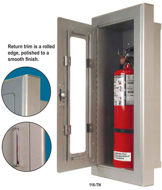 Access Doors Fire Extinguishers Metal Shelves Construction Products - Semi recessed fire extinguisher cabinet